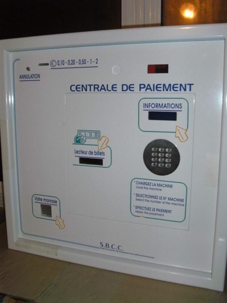centrale paiement reconditionn mon tique laverie automatique. Black Bedroom Furniture Sets. Home Design Ideas