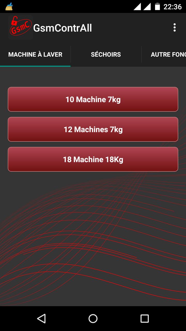 Onglet Machine