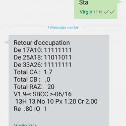 Réception SMS